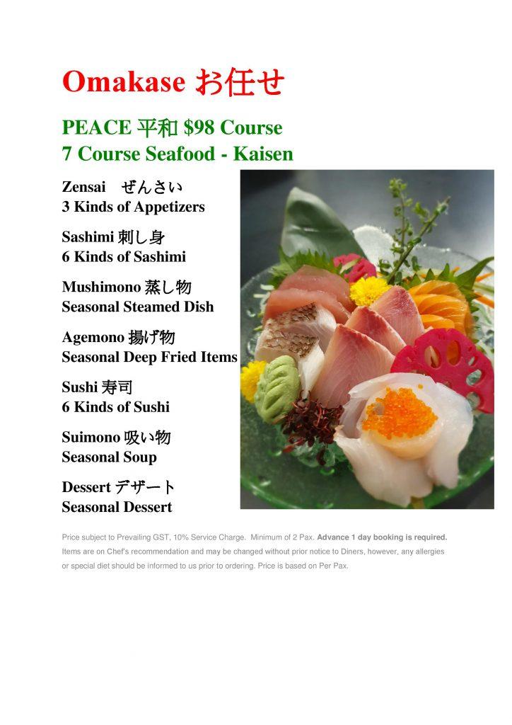 Peace Omakase